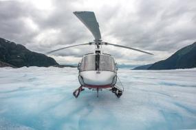 On the glacier b